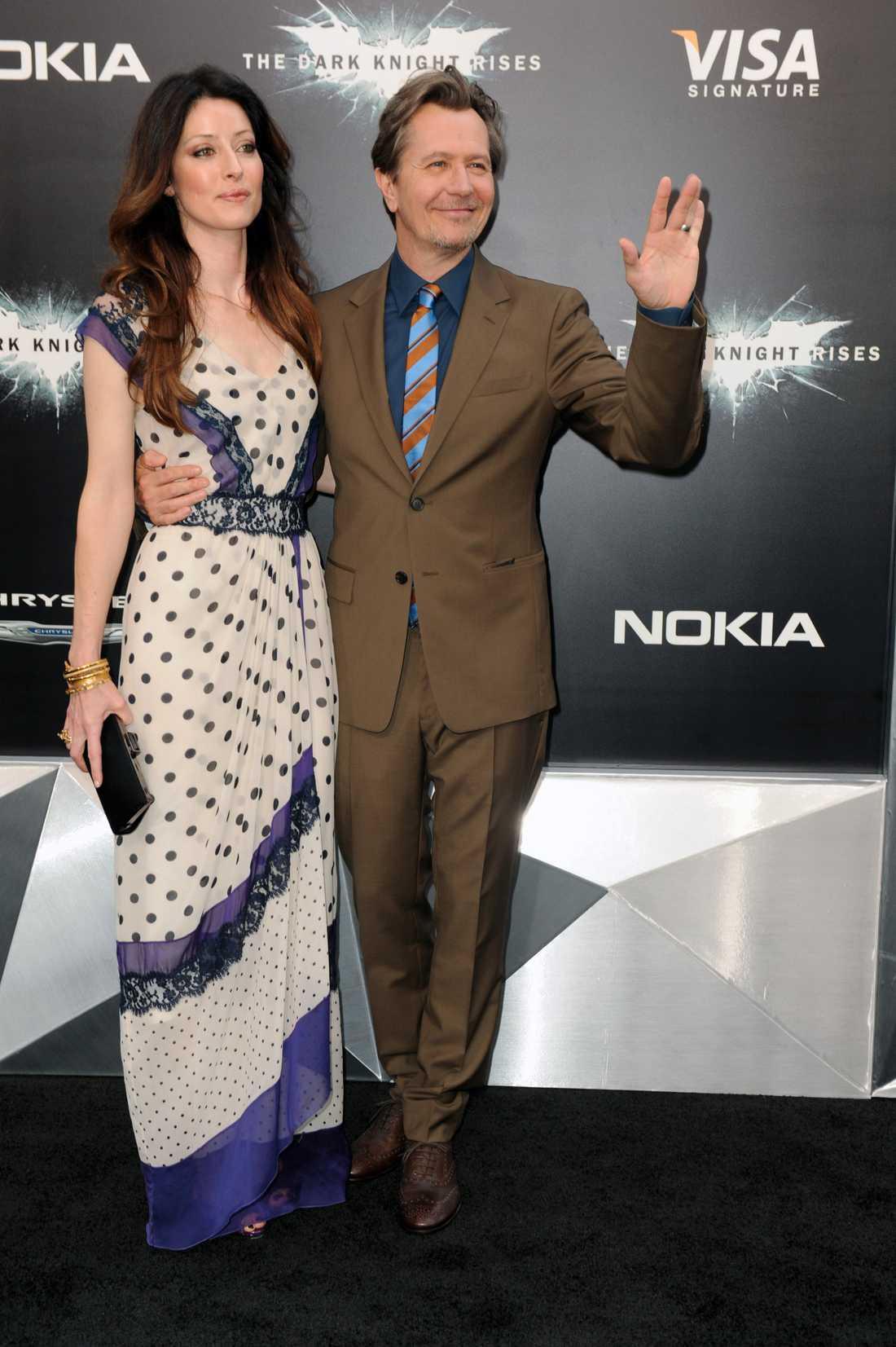 Gary Oldman med hustru.
