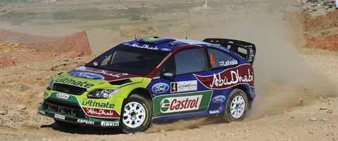 Jari-Matti Latvala leder Rally Jordanien efter första dagen.