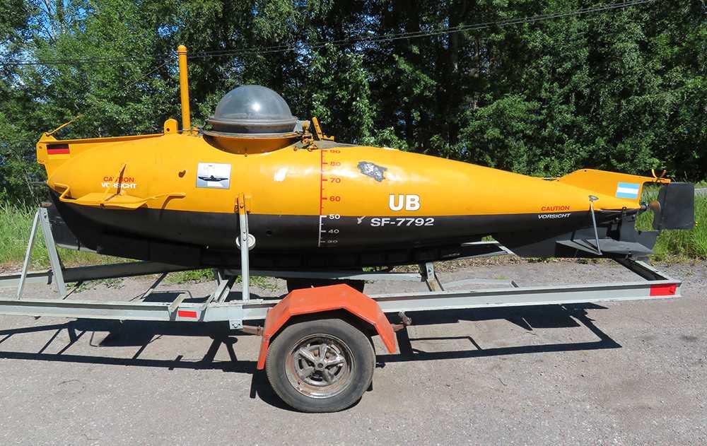 Knappt 80 år gammal ubåt.
