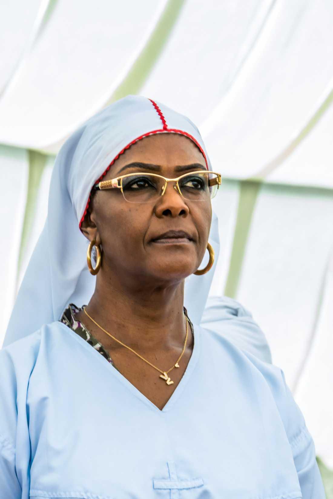 Grace Mugabe inför ett tal i Harare tidigare i november i år.