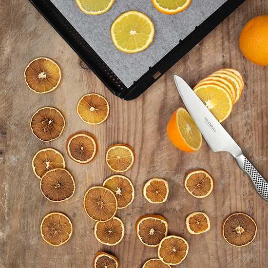 Torka apelsinskivor