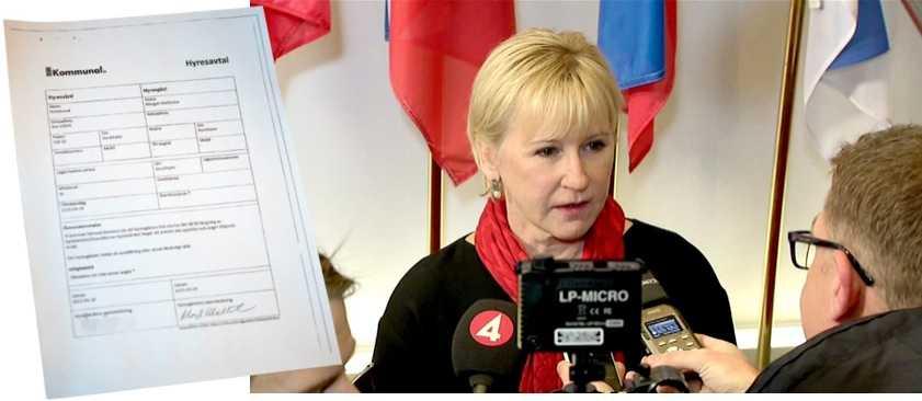 Margot Wallström hyrde en lägenhet av Kommunal.