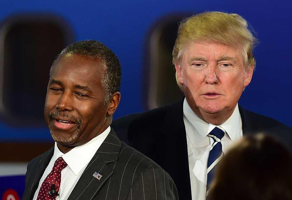 Ben Carson och Donald Trump.