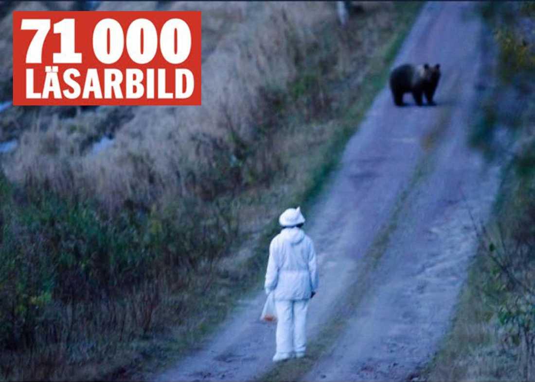 Disa Andersson höll på att ge upp när Järbobjörnen dök upp.