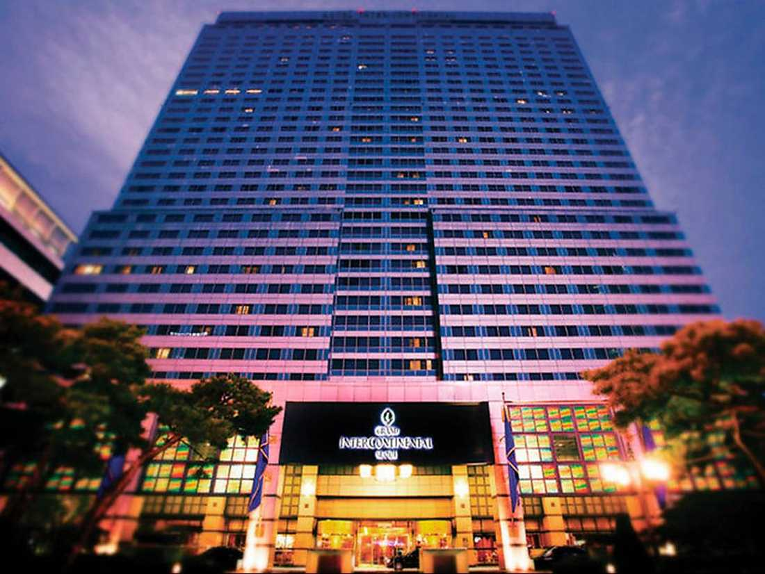 Grand Intercontinental i Seoul - där Angeles Bermudez-­­Svan­kvist med familj bodde under tio dagar 2012.