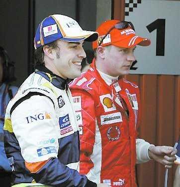 Fernando och Kimi.