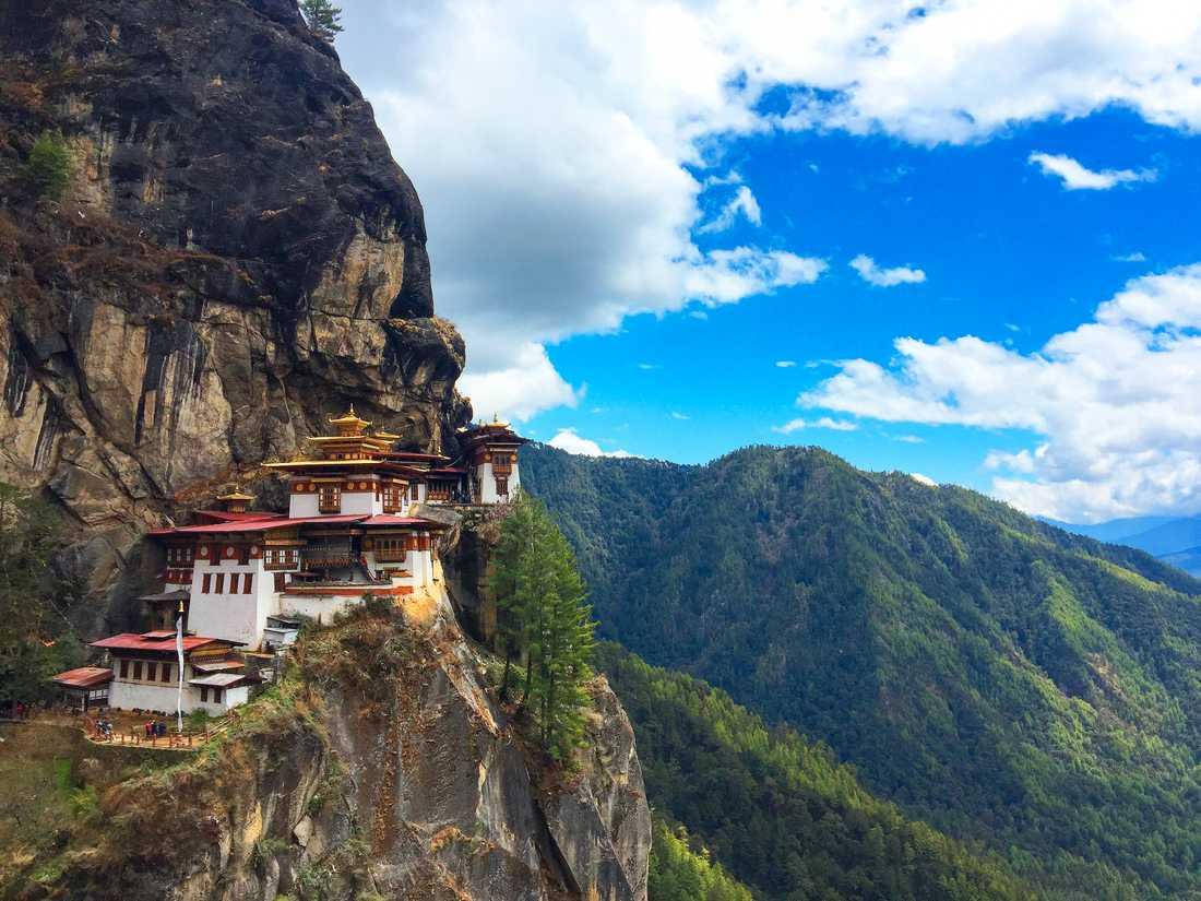 Tigernästet är en populär turistattraktion i Bhutan.