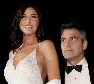 Lisa Snowden och George Clooney.