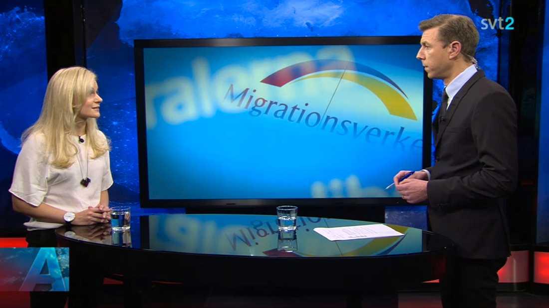 ... än partikollegan Frida Johansson Metso – som blev intervjuad av Jon Nilsson istället.