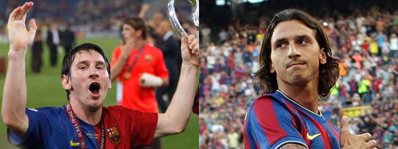 Nya lagkamrater: Leo Messi och Zlatan Ibrahimovic.