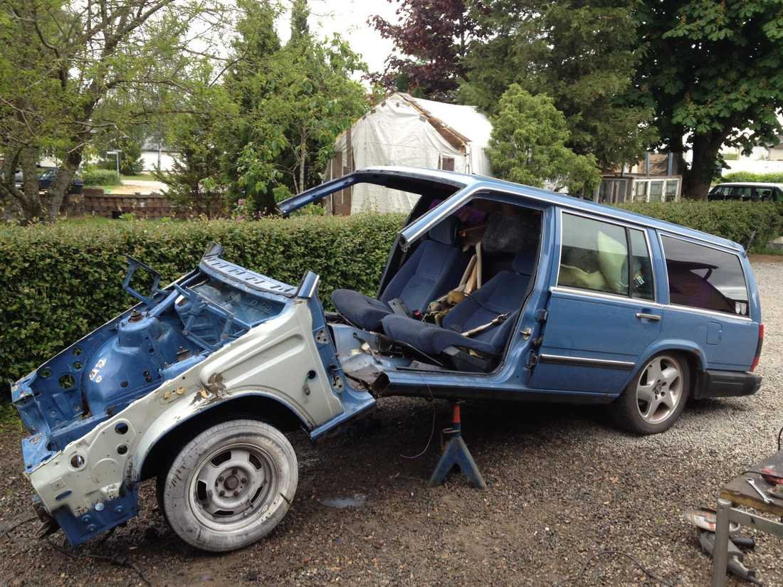 """Enligt Jimmy är det """"bara att kapa av, svetsa och lacka"""" för att skapa sin egen bil. Foto: Privat"""