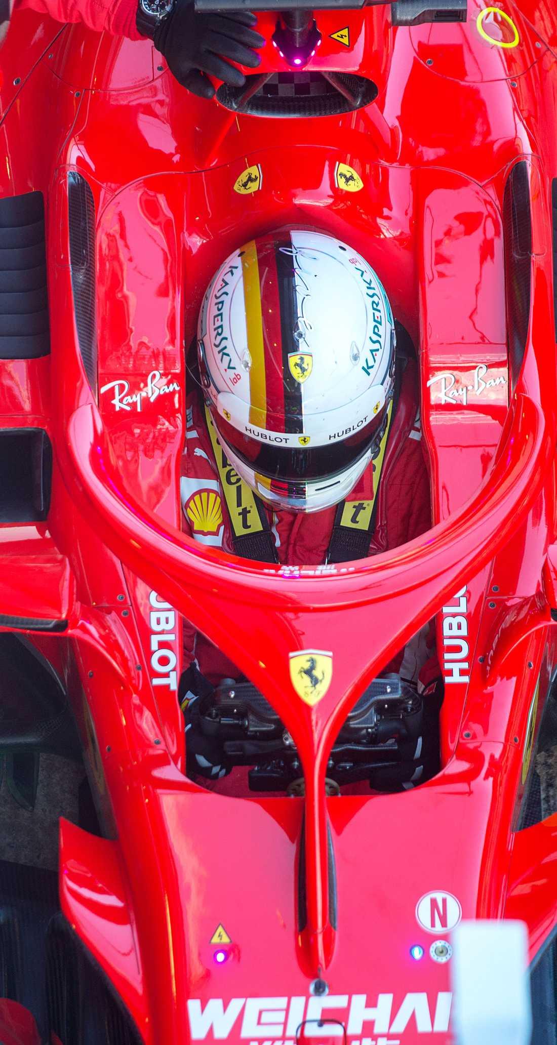 Sebastian Vettel körde 171 varv med sin Ferrari. En dag när ingen jagade tider gjorde han det snabbaste varvet av alla med däcket medium.