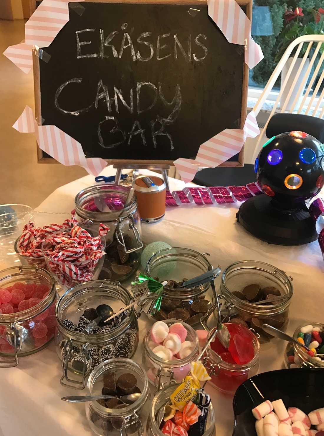 Det fanns till exempel olika sorters godis.