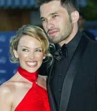 Kylie Minogue och Olivier Martinez, hennes pojkvän sedan två år.