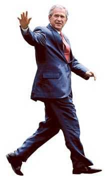 Bye, bye! George W Bush lämnar makten med en jättelik avskedsgåva till bankerna.