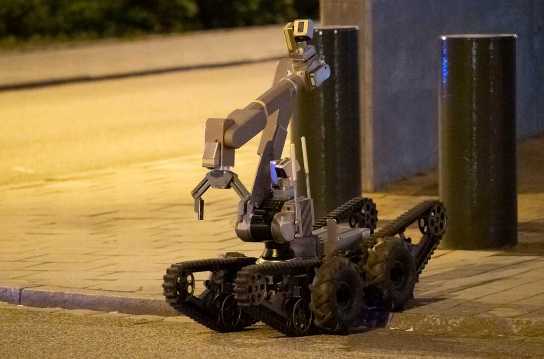 Polisens bombrobot. Arkivbild.
