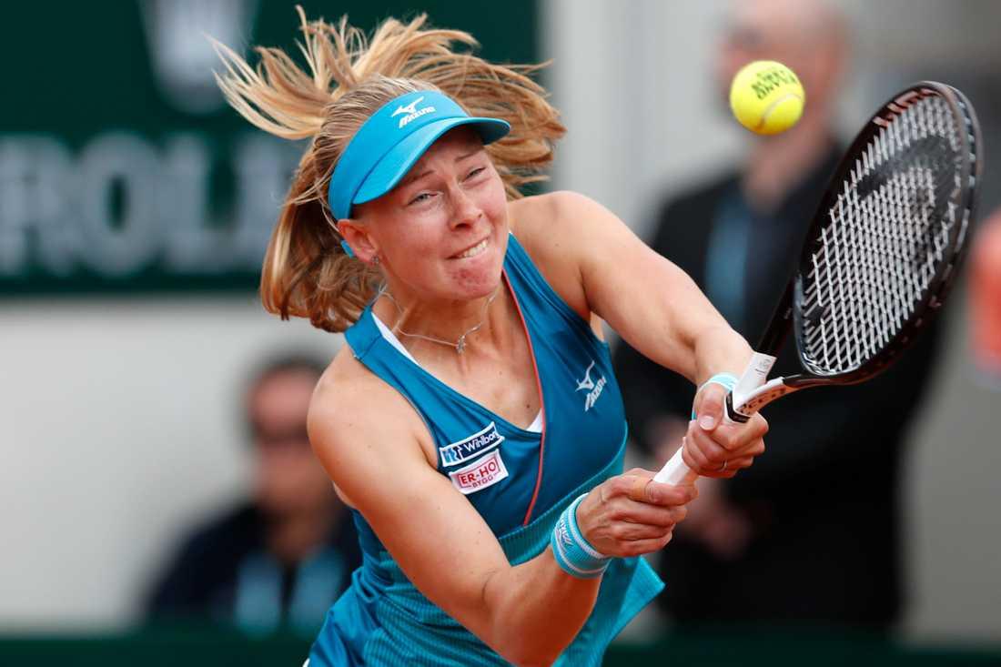 Endast en vinst står nu mellan tennisspelaren Johanna Larsson och Australian Opens huvudturnering. Arkivbild.