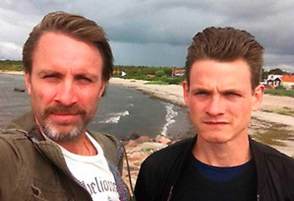 Aftonbladets fotograf Niclas Hammarström och reporter Martin Ekelund.