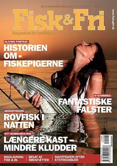 Förstasidan till tidningen Fisk og fri.