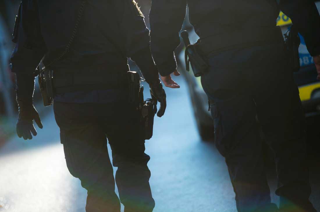 En polispatrull fick ta hand om en förrymd pytonorm i Malmö.