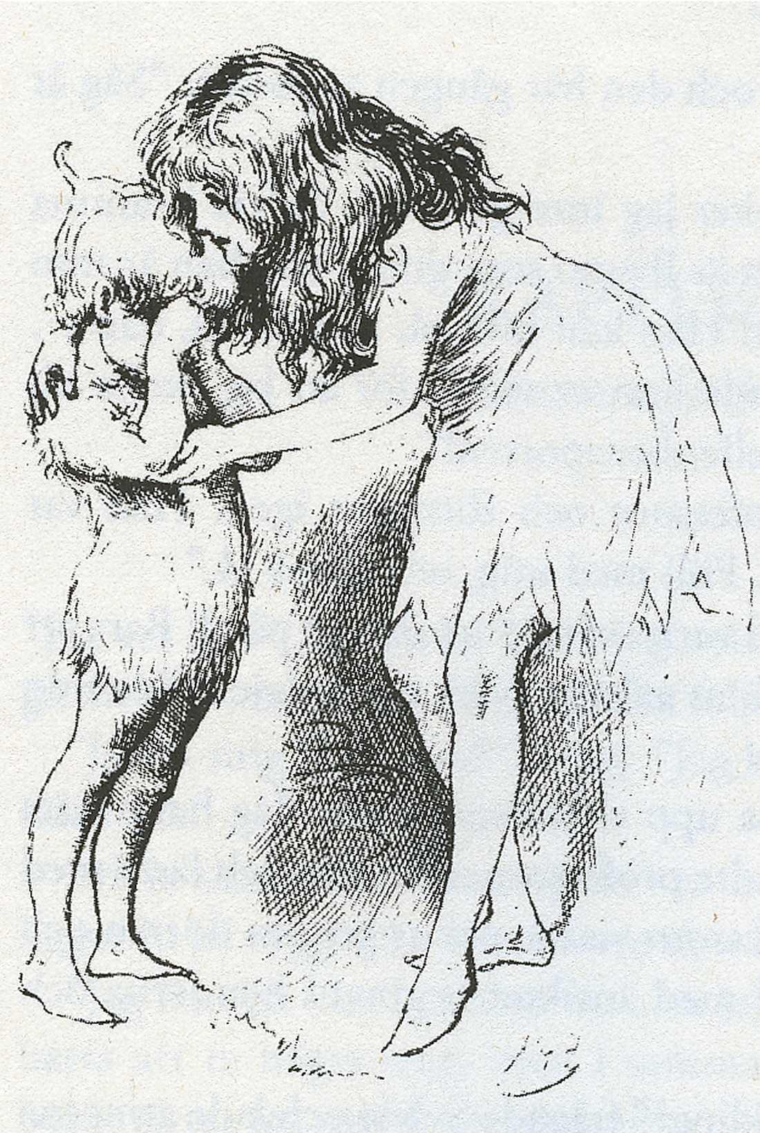 älva och ängel Bruno och hans storasyster Sylvie. Ur boken. Illustration: HARRY FURNISS