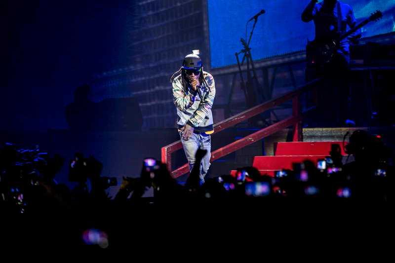 Lil Wayne vid en konsert på Globen 2013.