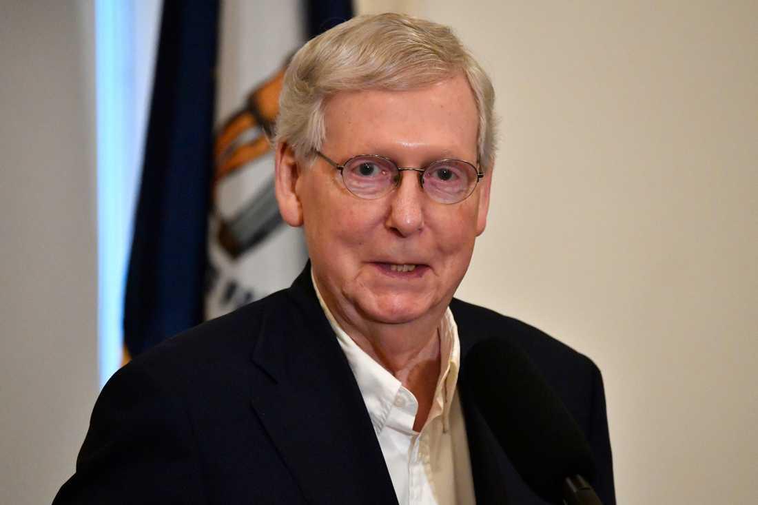 Mitch McConnell är den amerikanska senatens republikanske majoritetsledare. Arkivbild.