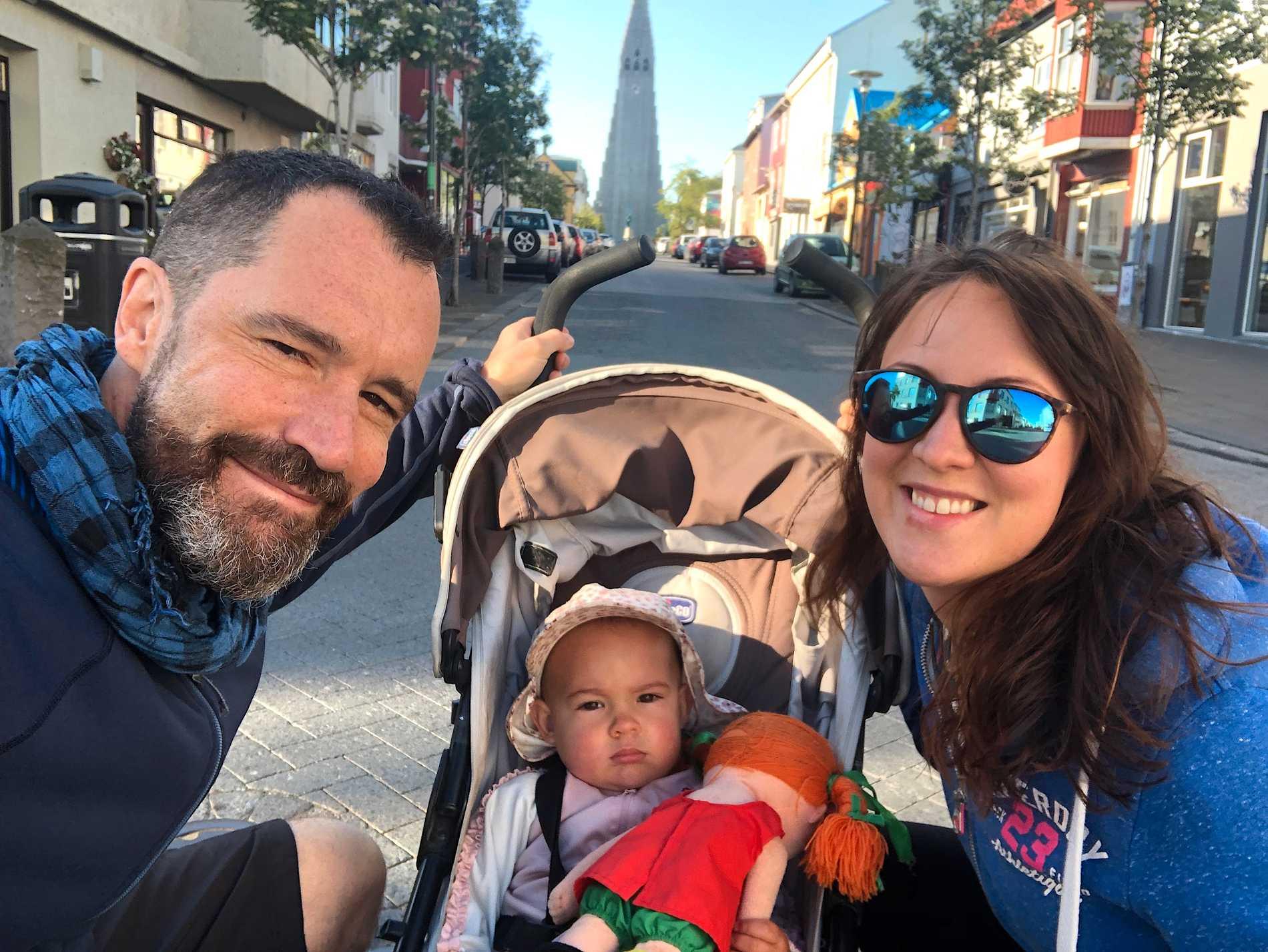Familjen brukar hitta inspiration under resor, här är de i Reykjavik, Island.