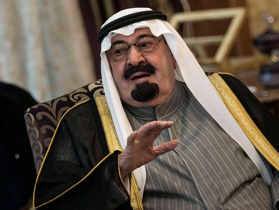 Saudiarabiens kung Abdullah bin Abdulaziz al-Saud. Han blev 90 år.