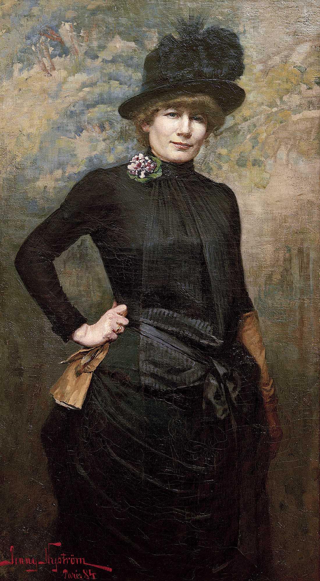Jenny Nyström (1854–1946), självporträtt målat i Paris 1884, olja på duk.