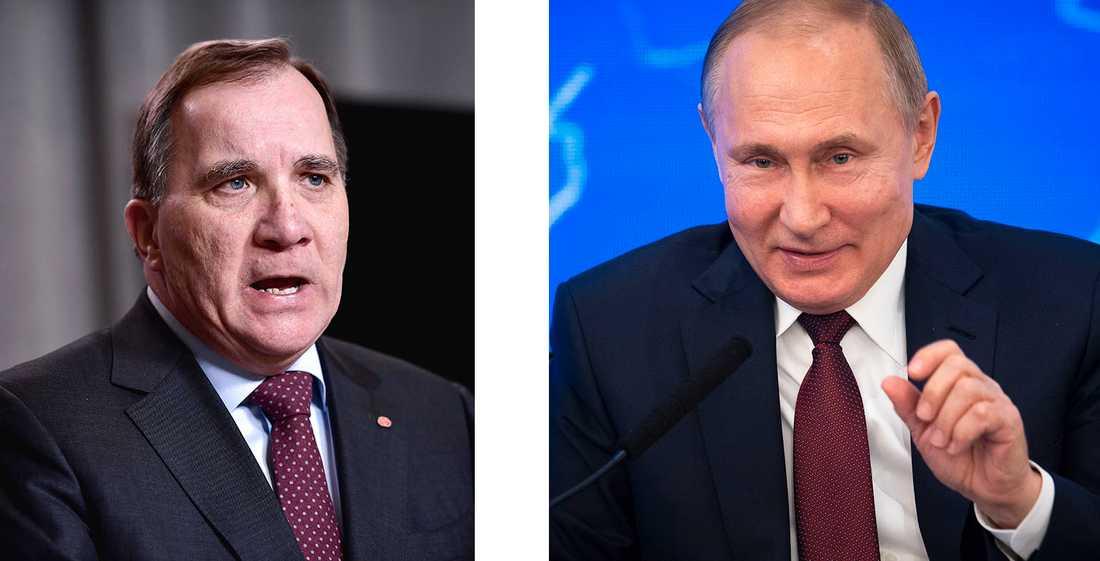 Rysslands president Vladimir Putin och Sveriges statsminister Stefan Löfven möts på tu man hand i ryska S:t Petersburg.