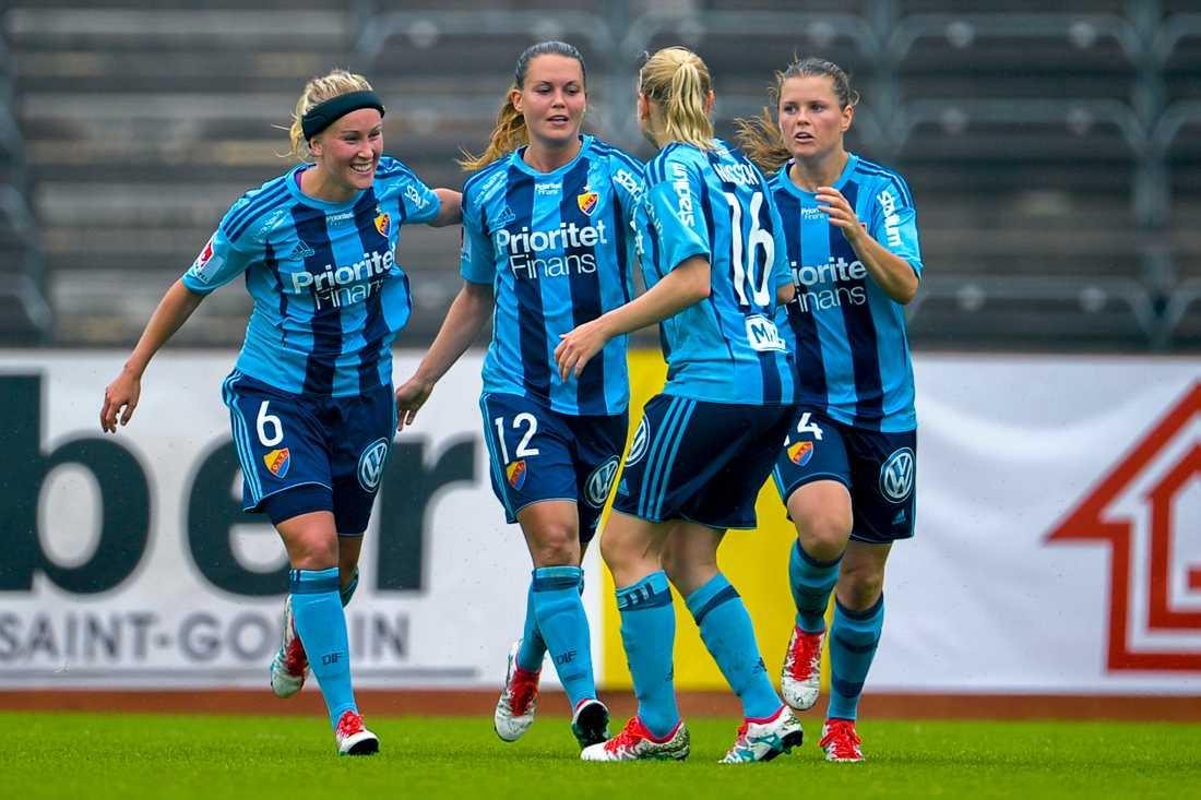 Emilia Appelqvist gjorde Djurgårdens mål.