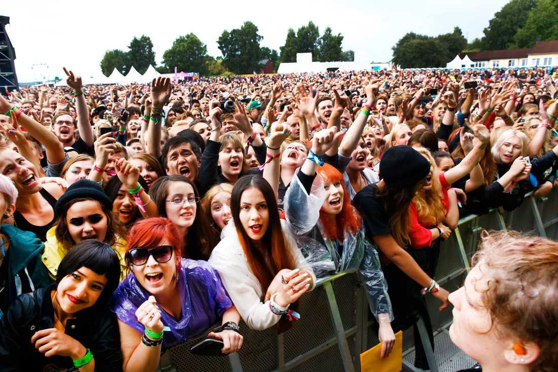 Publiken på Paramores spelning 2013.