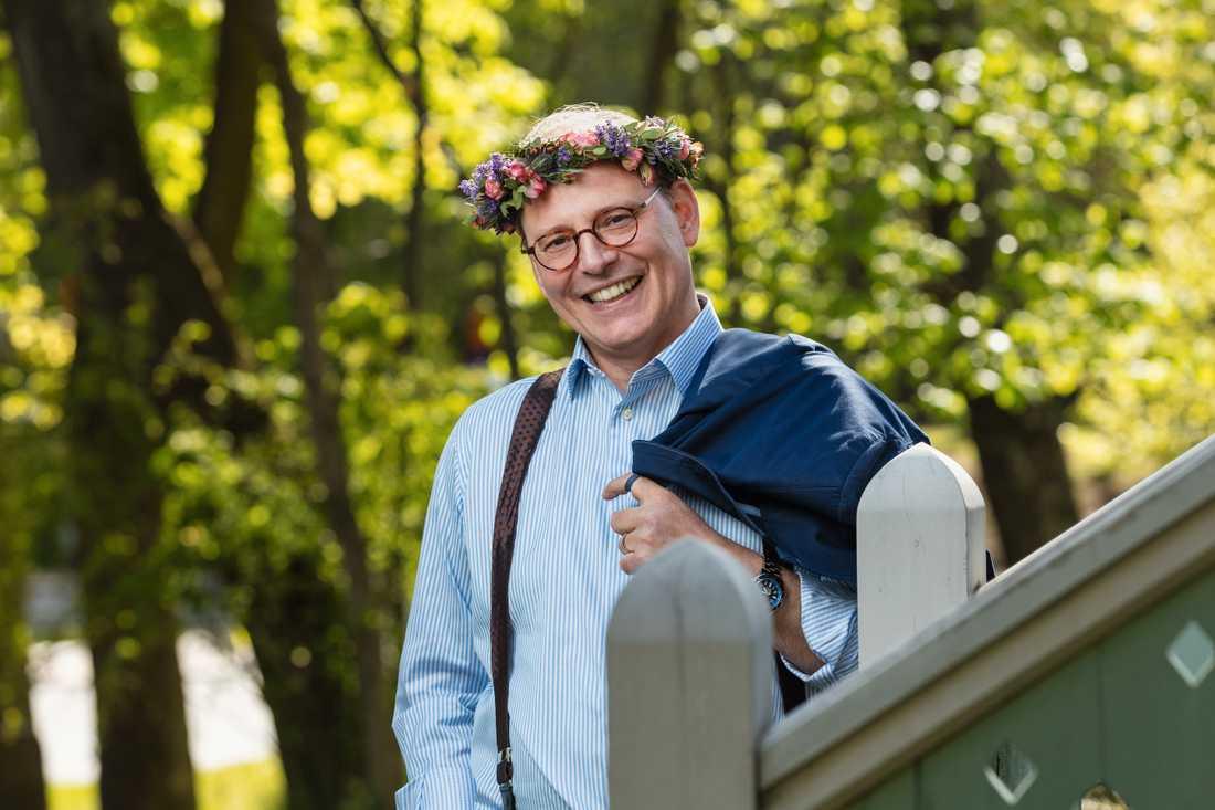 """Rasmus Troedsson sommarpratar och är annars känd som """"Bellan"""" Ross i """"Vår tid är nu""""."""