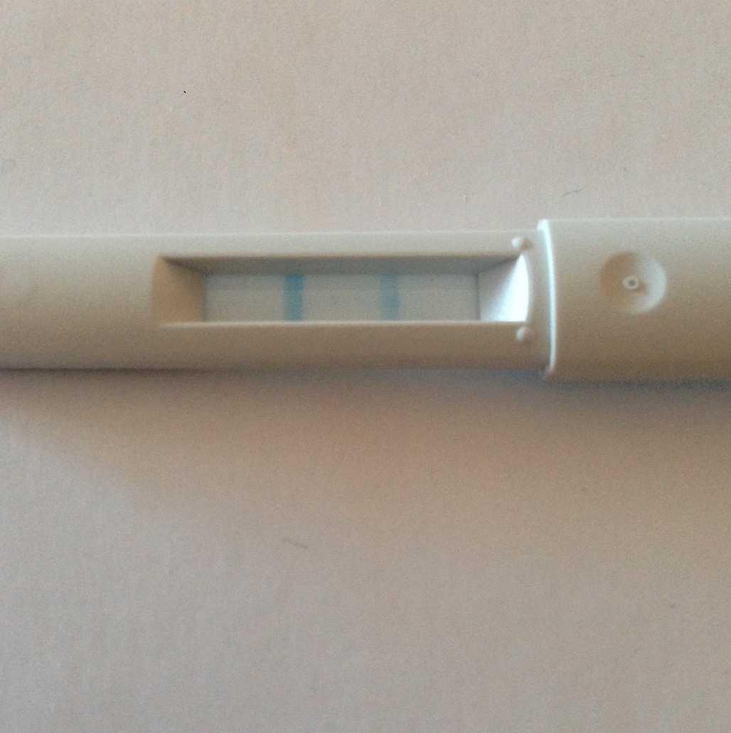 Lyckan var stor när graviditetstestet visade positivt.