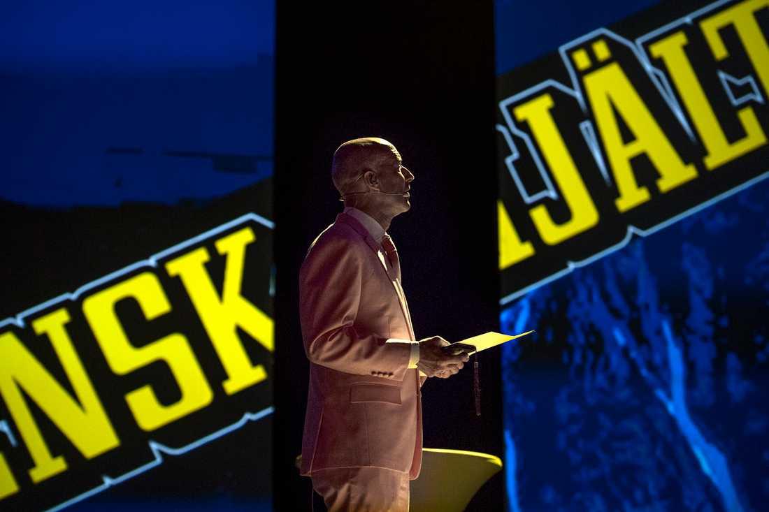 Mark Levengood äntligen på plats inne i Globen efter att ha åkt runt i hela Sverige med skolturnén. –Det känns enormt roligt. För oss är det ett väldigt stort steg.