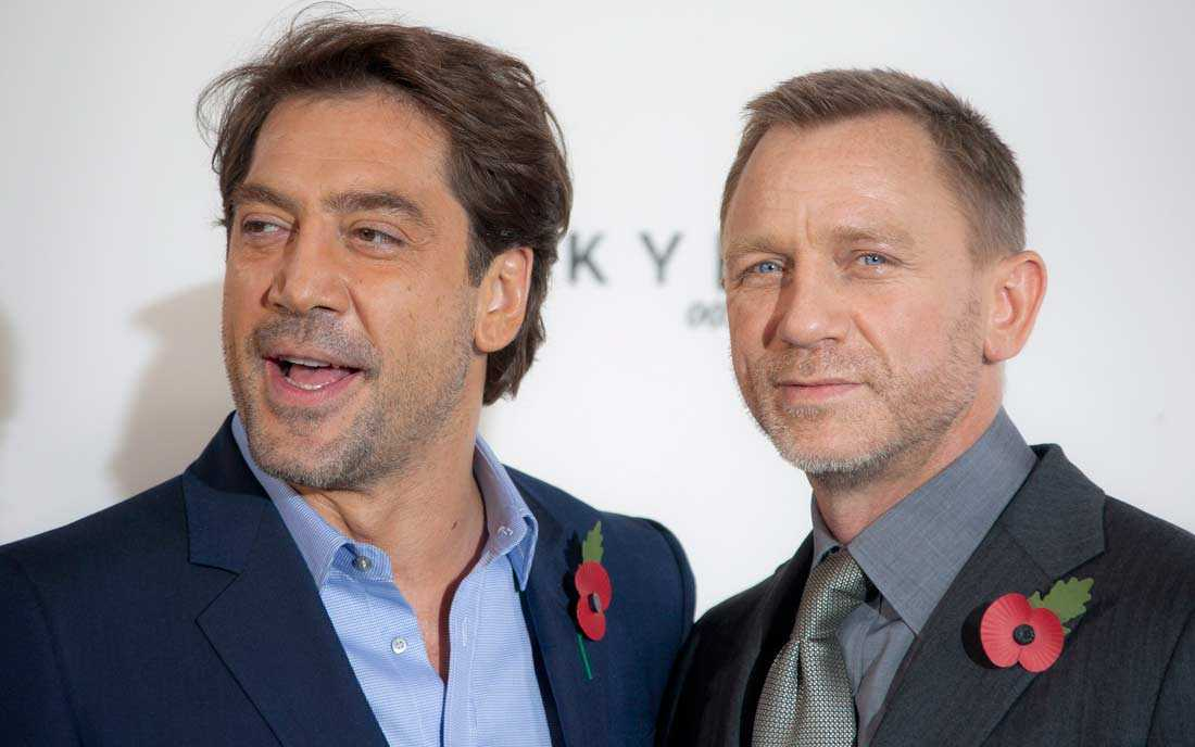 Skådespelarna Javier Bardem och Daniel Craig spelar i nya Bond-filmen.