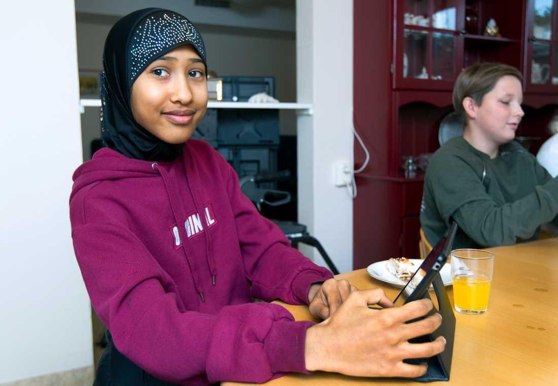 Aida Abdallah tycker att det var spännande att vara med i projektet.