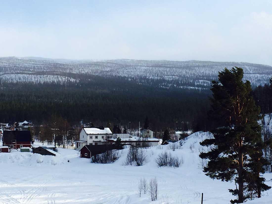 Fjället där de sex personerna var försvunna i Ammarnäs.