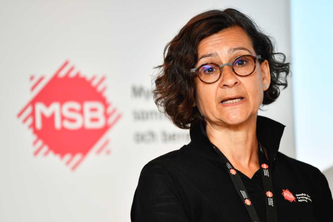 Anneli Bergholm Söder, chef på MSB:s operativa avdelning.