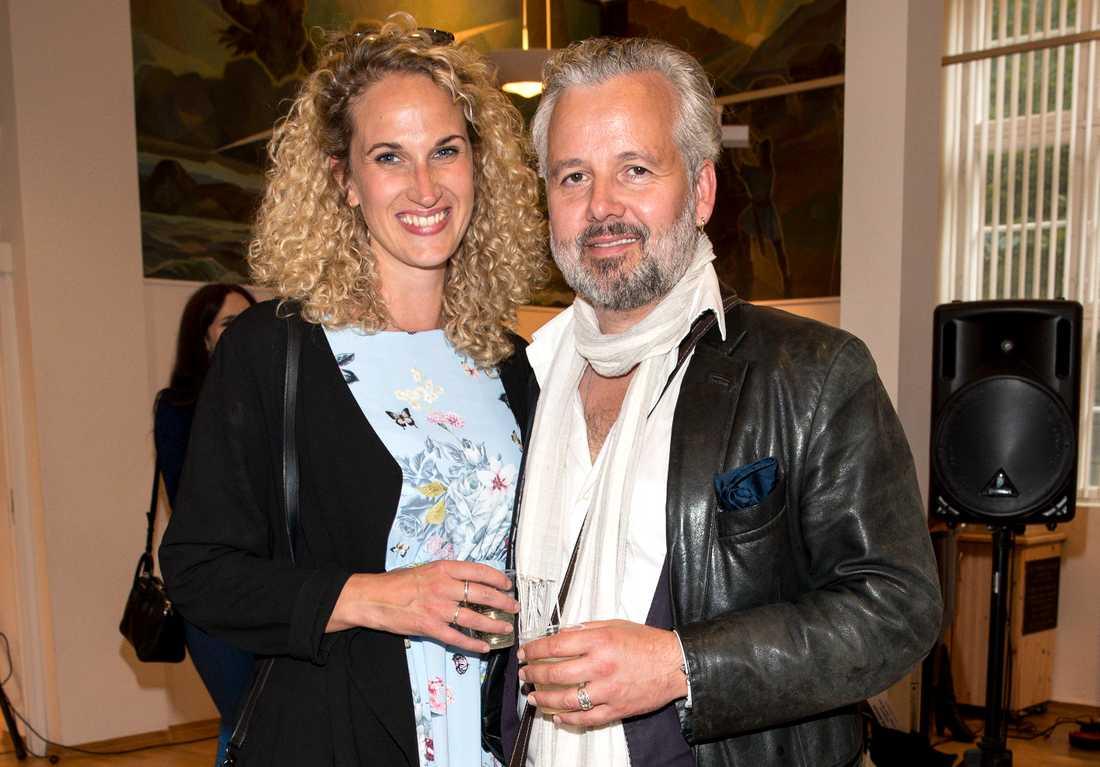 Ebba Rysst Heilmann tillsammans med Ari Behn.
