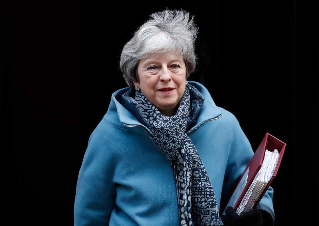 Premiärminister Theresa May har en tuff uppgift att få det brittiska parlamentet att acceptera hennes brexitplan. Arkivfoto.