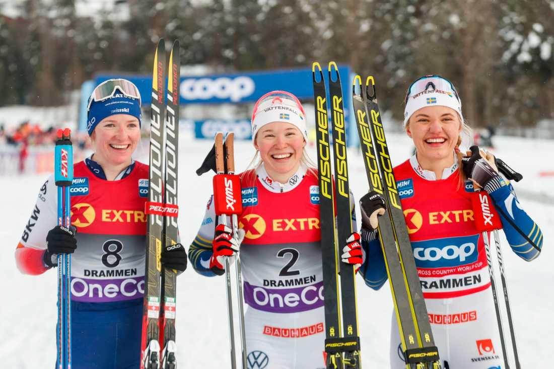 Nadine Fähndrich, Jonna Sundling och Linn Svahn.