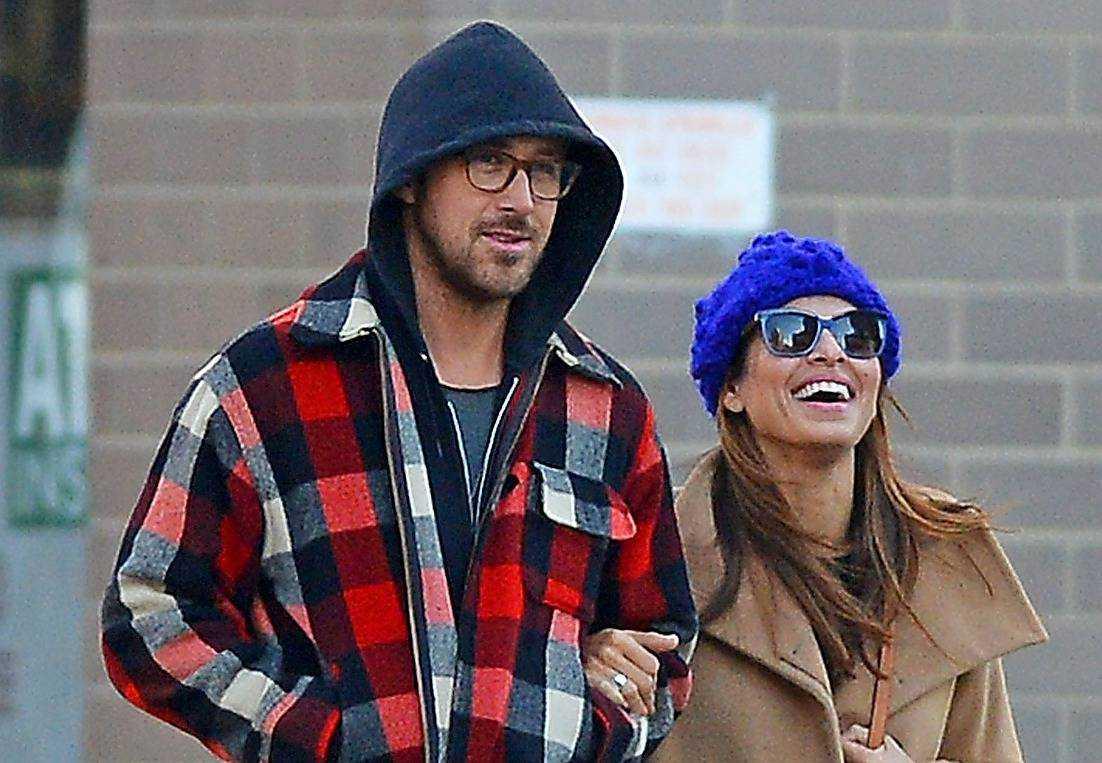"""Ryan Gosling och Eva Mendes blev ett par 2011 under inspelningen av """"The place beyond the pines"""" - där de spelade ett par med ett nyfött barn."""