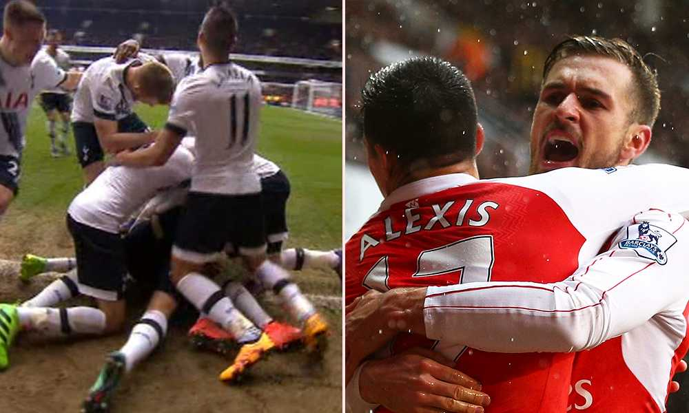 Tottenham jublade enormt efter Harry Kanes 2-1-mål – men Arsenal svarade.