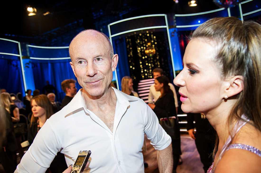 Tillsammans med danspartnern Cissi.