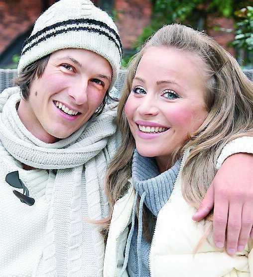 Sara Varga tillsammans med expojkvännen Viktor Åkerblom.