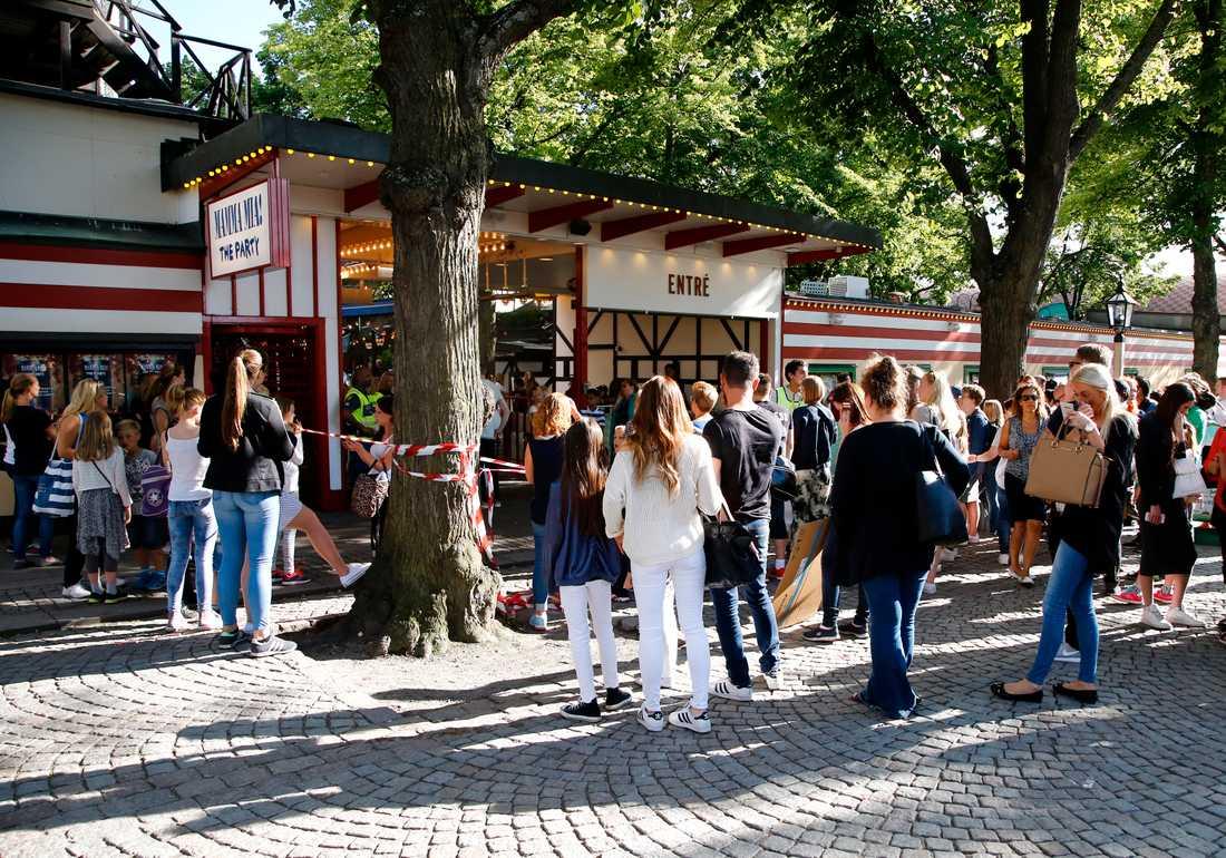 Fans tvingades vända i entrén inför Marcus och Martinus spelning på Gröna Lund.