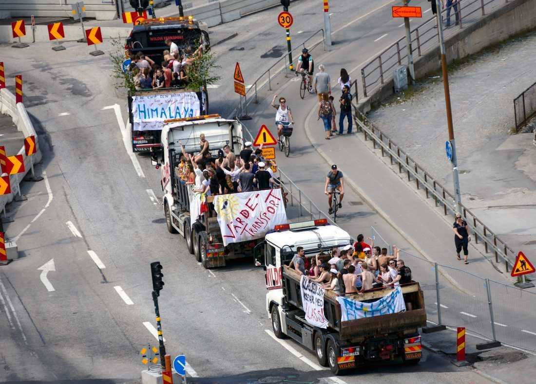 Studentflak i Stockholm. Arkivbild.