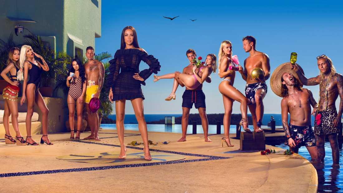 """Deltagarna i den nya säsongen av """"Paradise hotel""""."""